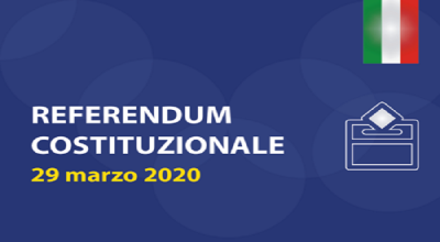 REFERENDUM COSTITUZIONALE DEL 29 MARZO 2020